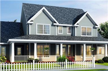 4-Bedroom, 1980 Sq Ft Country House Plan - 178-1080 - Front Exterior