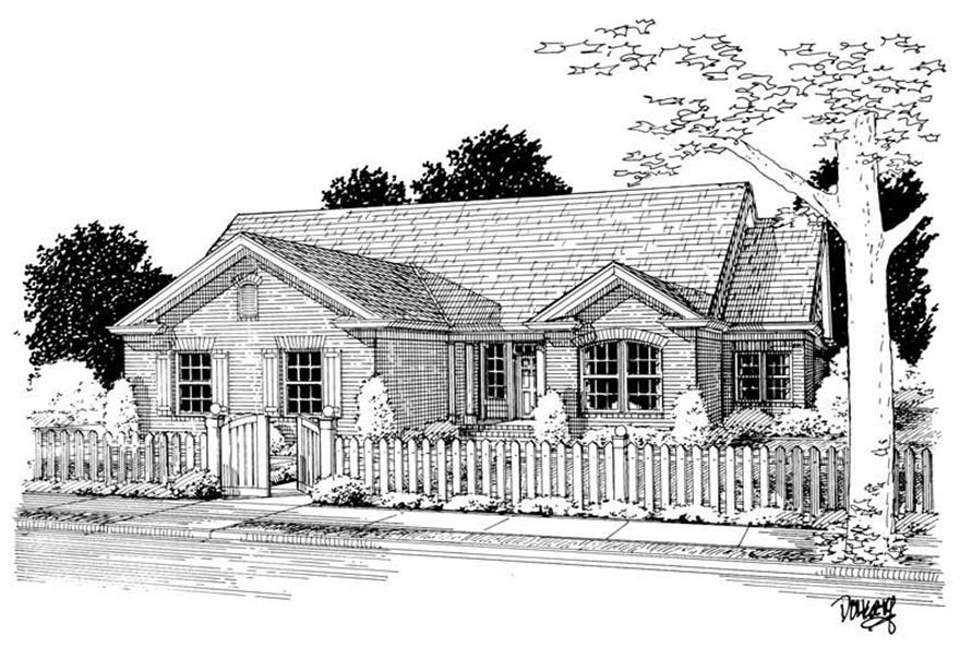 Main image for house plan # 5448