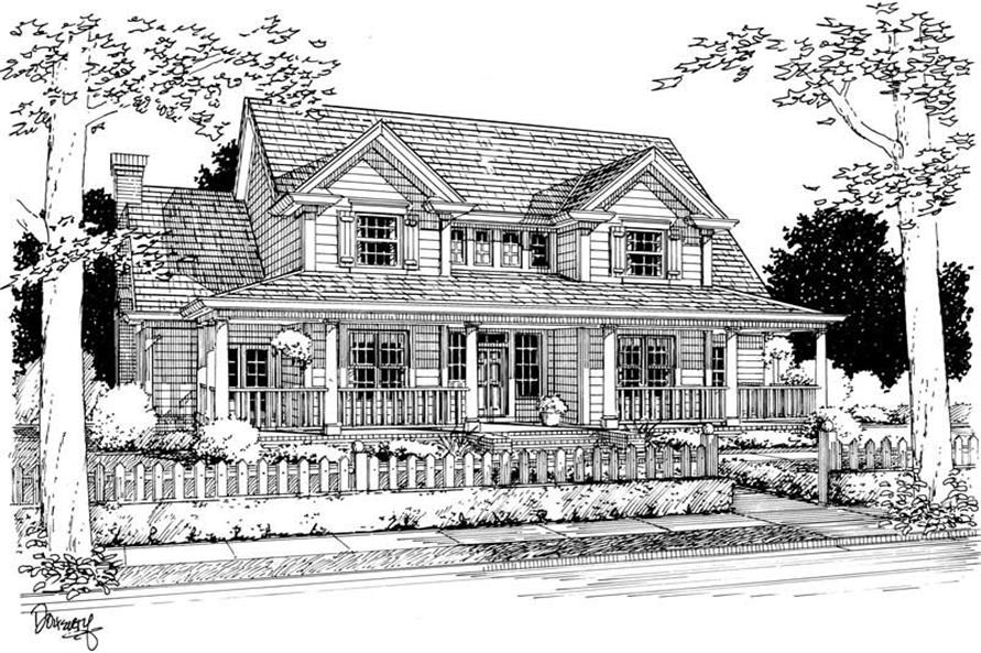 Main image for house plan # 5406