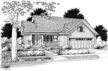 3-Bedroom, 1484 Sq Ft Bungalow Home Plan - 178-1141 - Main Exterior