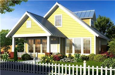3-Bedroom, 1683 Sq Ft Bungalow Home Plan - 178-1144 - Main Exterior
