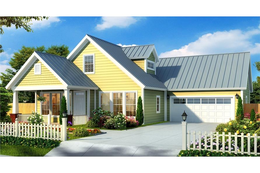 Color rendering of House Plan #178-1176