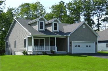 2-Bedroom, 1274 Sq Ft Cape Cod House Plan - 178-1204 - Front Exterior