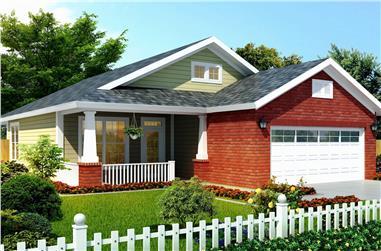 3-Bedroom, 1253 Sq Ft Ranch Home Plan - 178-1268 - Main Exterior