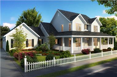 4-Bedroom, 2796 Sq Ft Cottage House Plan - 178-1322 - Front Exterior