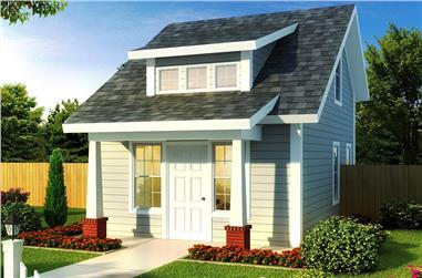 1-Bedroom, 597 Sq Ft Cottage Home Plan - 178-1346 - Main Exterior