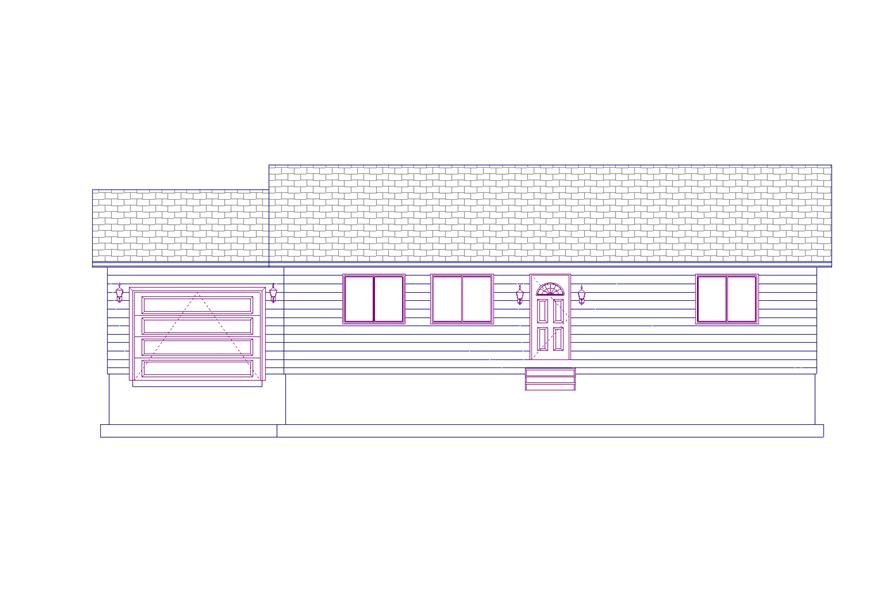 187-1009: Home Plan Front Elevation