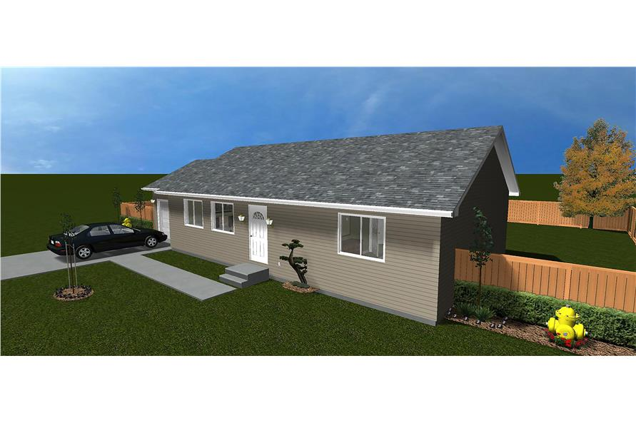 The Plan Collection: Front Elevation of Traditional House # 187-1009