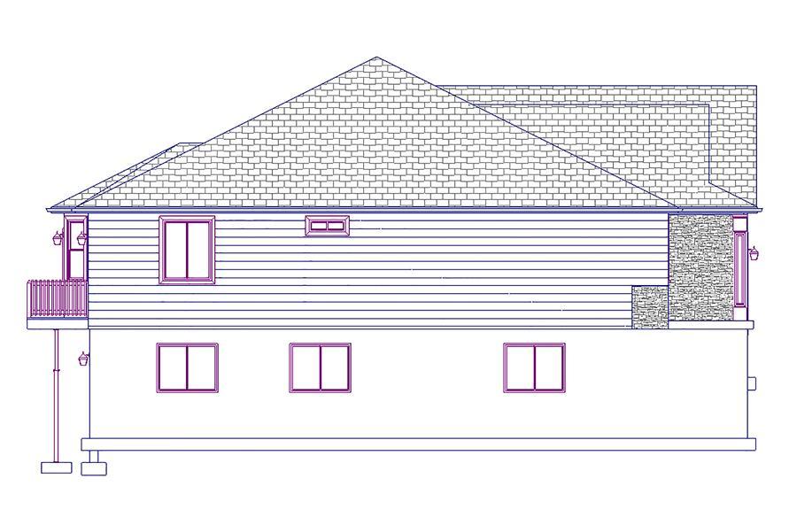 187-1011: Home Plan Left Elevation