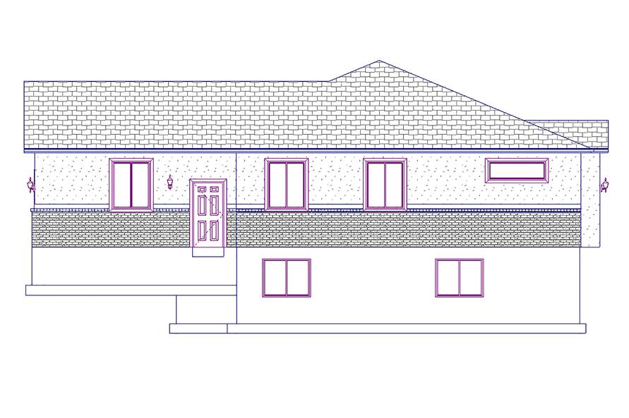 187-1015: Home Plan Right Elevation