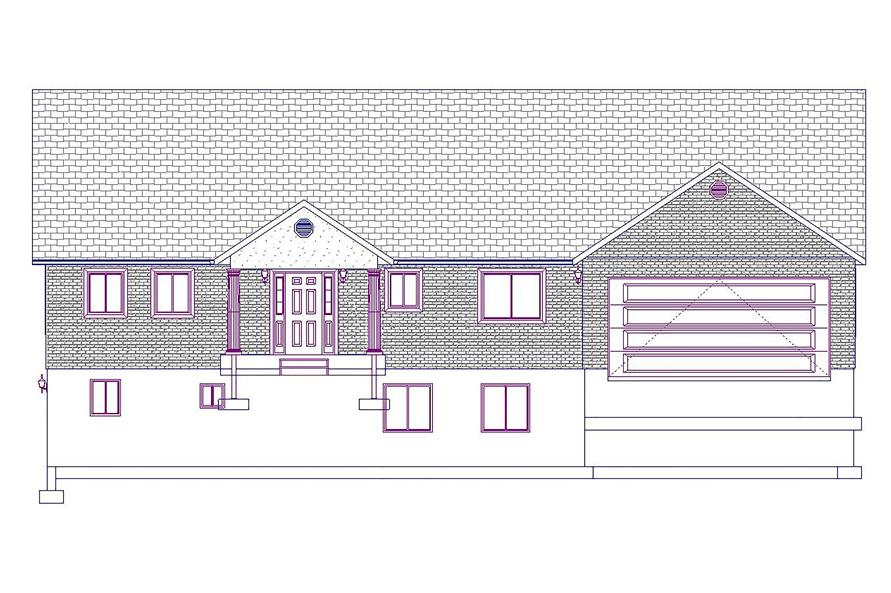 187-1025: Home Plan Front Elevation
