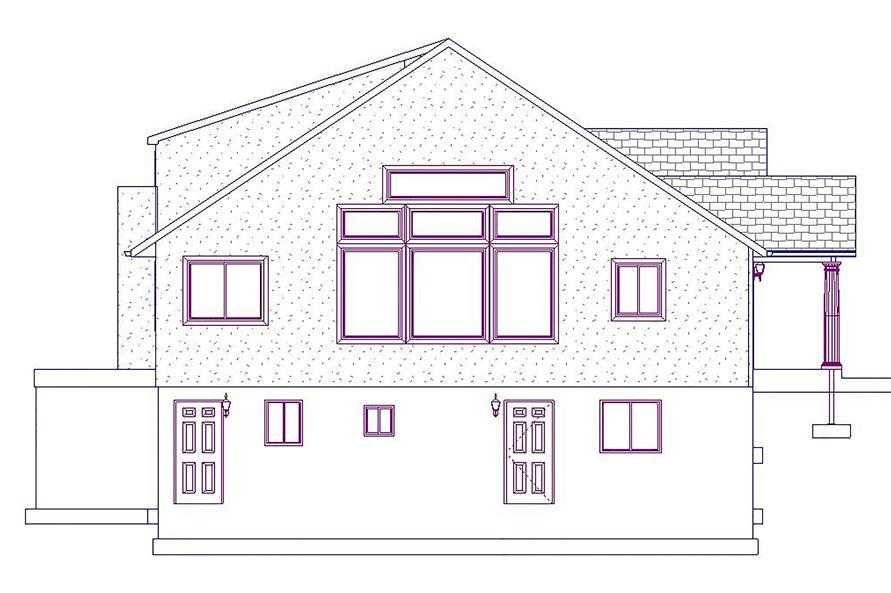187-1025: Home Plan Left Elevation