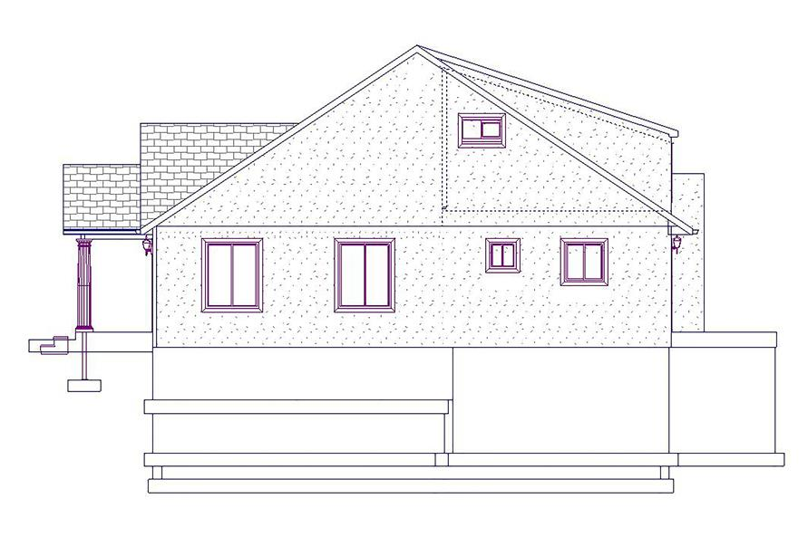 187-1025: Home Plan Right Elevation