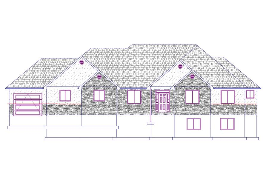 187-1031: Home Plan Front Elevation