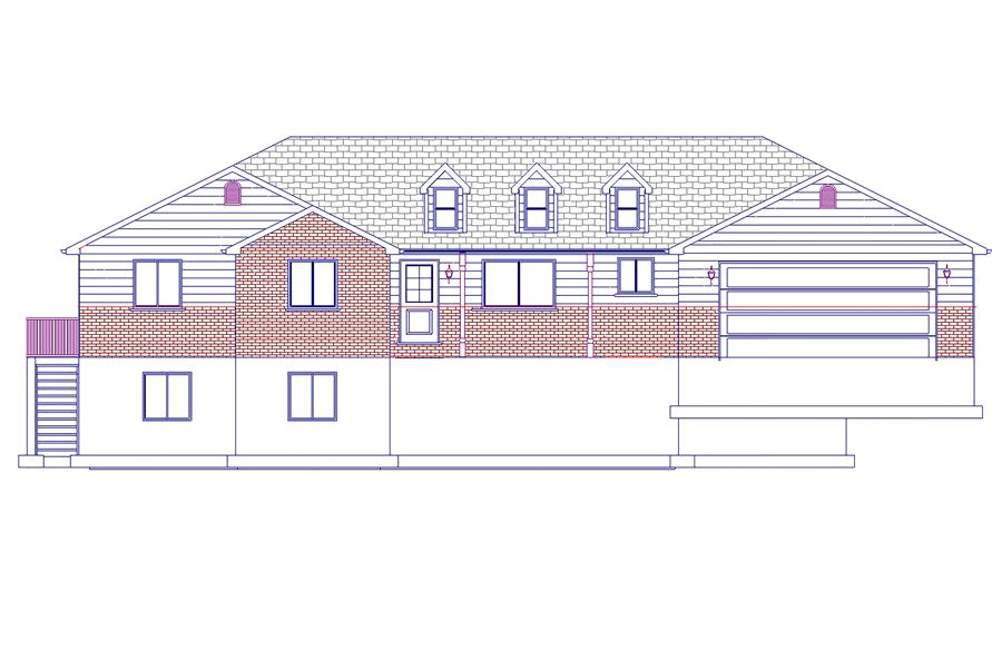 187-1063: Home Plan Front Elevation