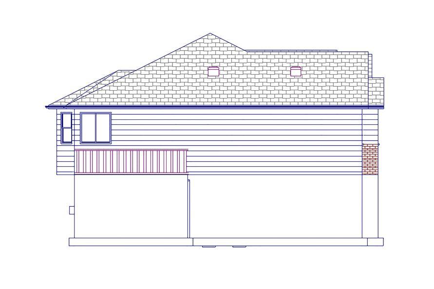187-1063: Home Plan Left Elevation