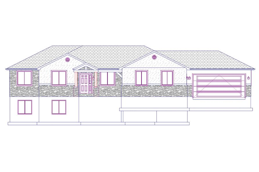 187-1069: Home Plan Front Elevation