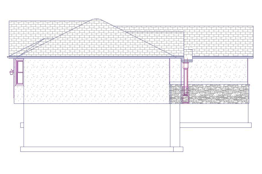 187-1069: Home Plan Left Elevation