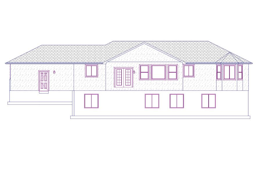 187-1069: Home Plan Rear Elevation