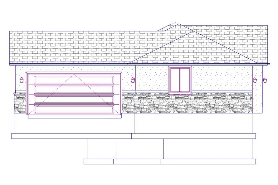 187-1069: Home Plan Right Elevation