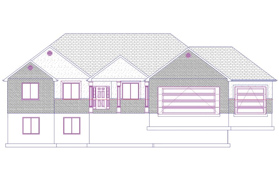 187-1072: Home Plan Front Elevation