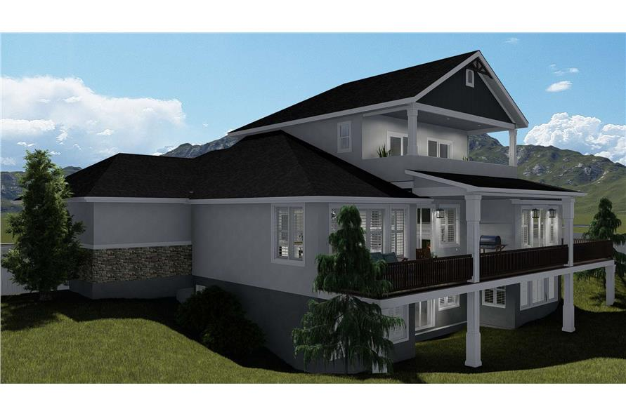Side View of this 3-Bedroom,2920 Sq Ft Plan -2920
