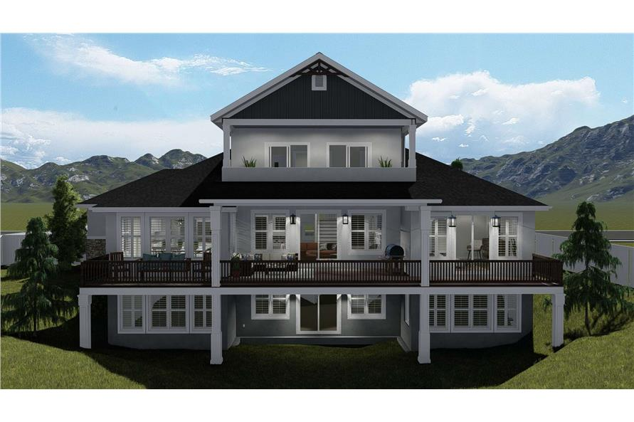 Rear View of this 3-Bedroom,2920 Sq Ft Plan -2920