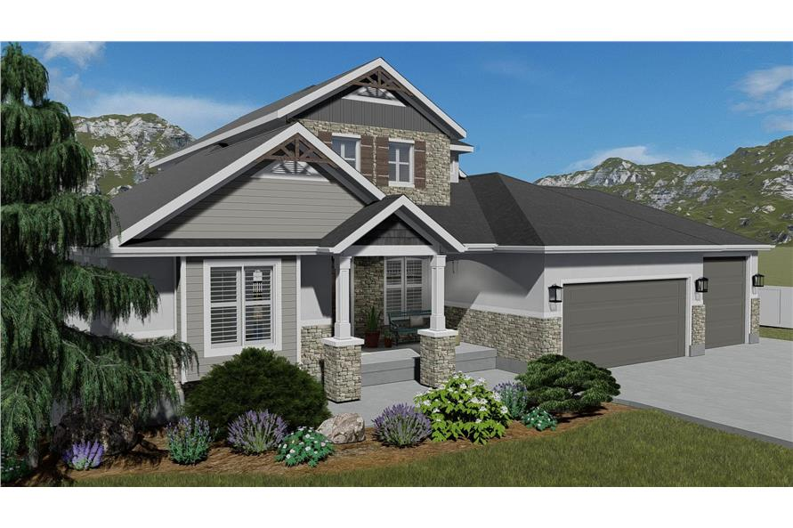 Front View of this 3-Bedroom,2920 Sq Ft Plan -2920