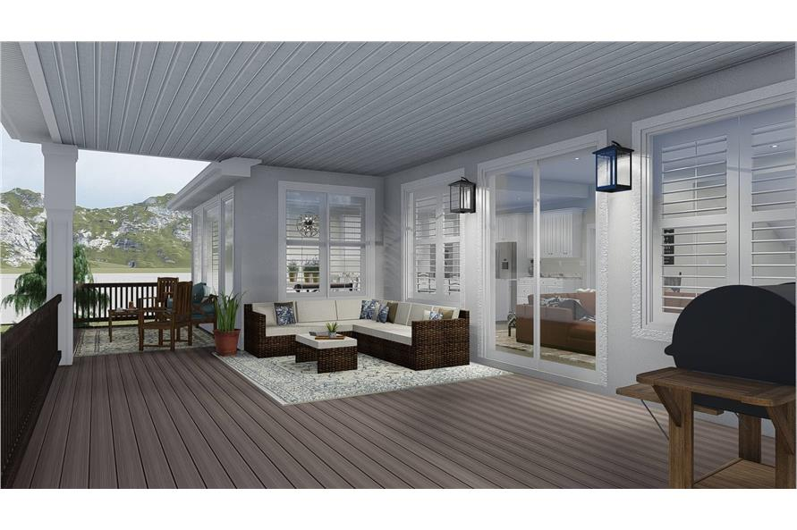 Deck of this 3-Bedroom,2920 Sq Ft Plan -2920