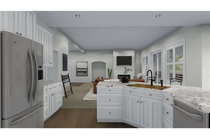 Kitchen of this 3-Bedroom,2920 Sq Ft Plan -2920