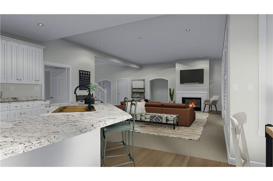 Family Room of this 3-Bedroom,2920 Sq Ft Plan -2920