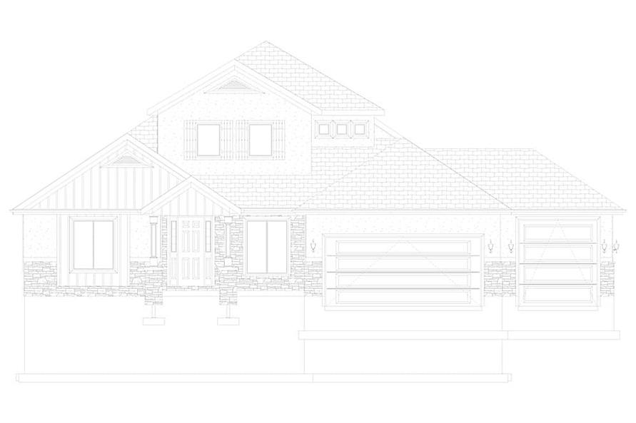 Home Plan Front Elevation of this 2-Bedroom,2920 Sq Ft Plan -187-1154
