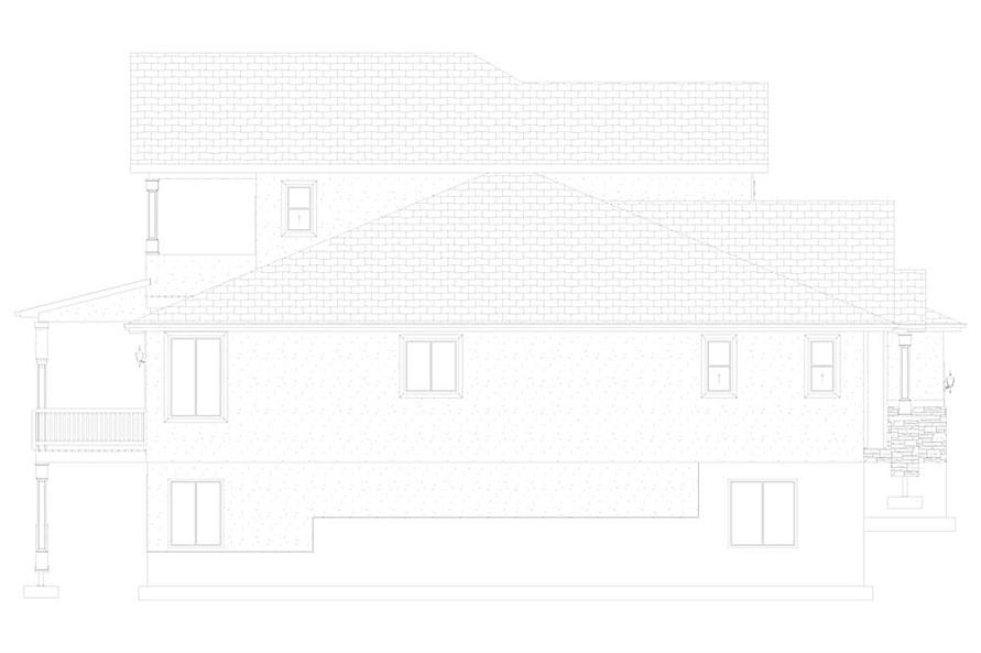 Home Plan Left Elevation of this 2-Bedroom,2920 Sq Ft Plan -187-1154
