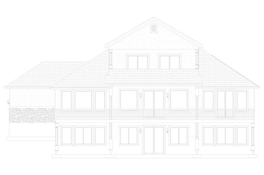 Home Plan Rear Elevation of this 2-Bedroom,2920 Sq Ft Plan -187-1154