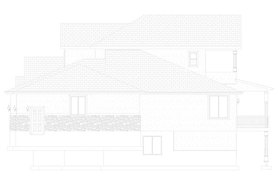 Home Plan Right Elevation of this 2-Bedroom,2920 Sq Ft Plan -187-1154
