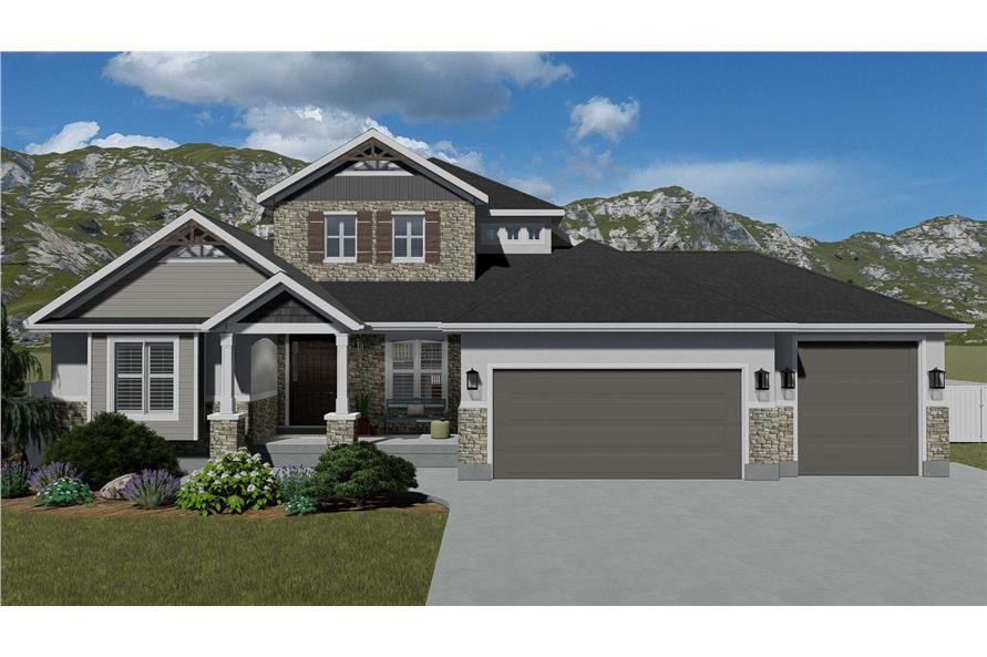3–6 Bedroom, 2920 Sq Ft Contemporary Home - Plan #187-1154 - Main Exterior