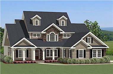 4-Bedroom, 2880 Sq Ft Farmhouse Home - Plan #189-1016