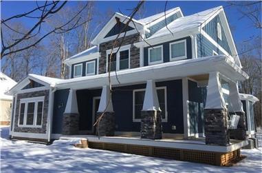 4-Bedroom, 2988 Sq Ft Craftsman Home Plan - 189-1093 - Main Exterior