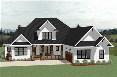 4-Bedroom, 3390 Sq Ft Farmhouse Home - Plan #189-1104 - Main Exterior