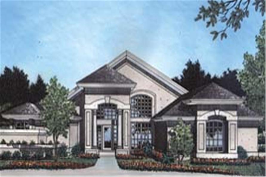 190-1008: Home Plan Front Elevation