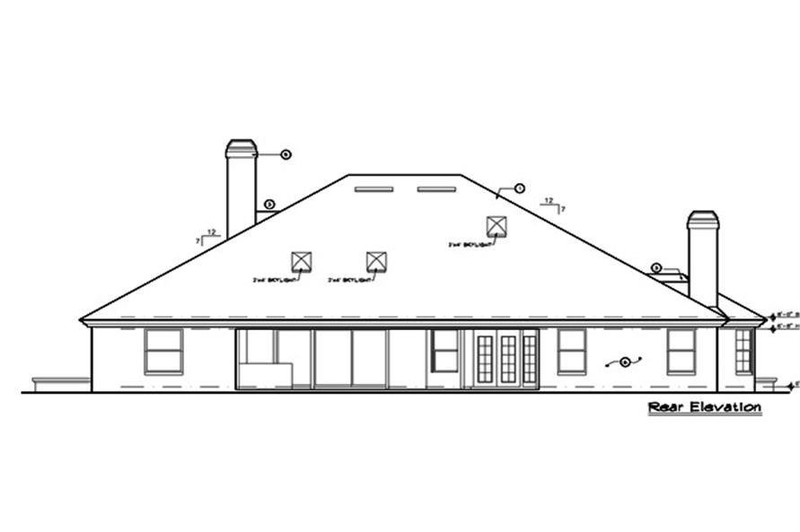 190-1010: Home Plan Rear Elevation