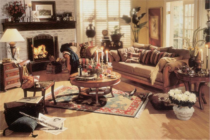 190-1012: Home Interior Photograph-Family Room