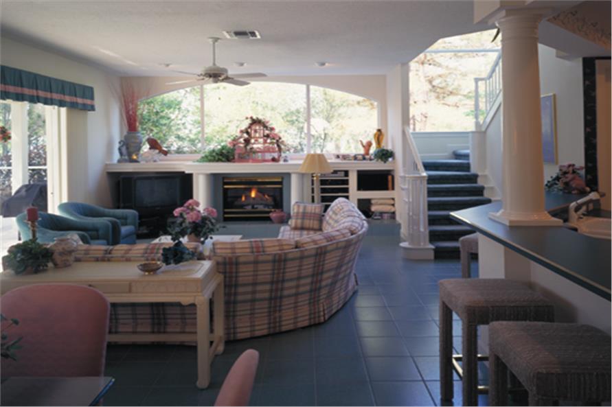 190-1018: Home Interior Photograph-Family Room