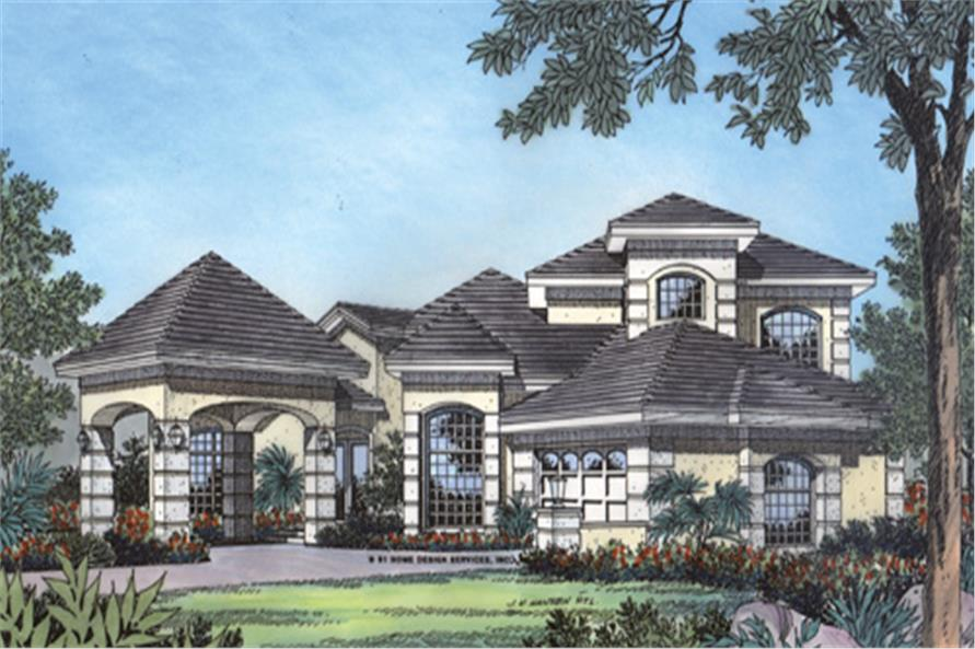 190-1018: Home Plan Front Elevation