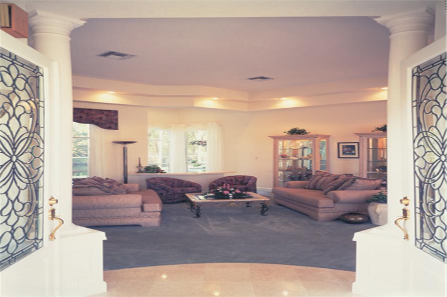 190-1018: Home Interior Photograph-Entry Hall: Foyer
