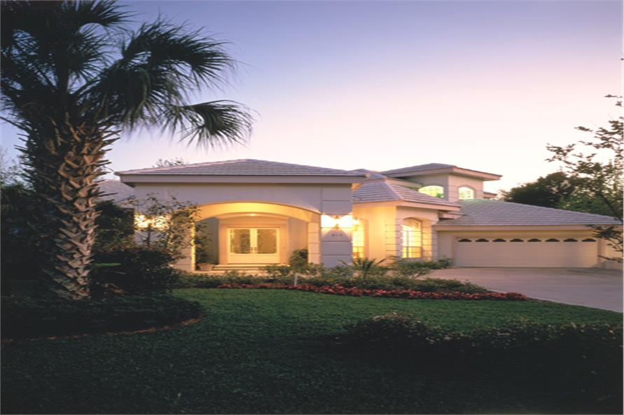 190-1018: Home Exterior Photograph-Home at Night