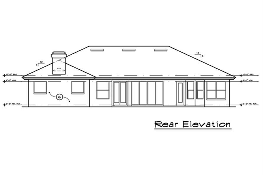 190-1020: Home Plan Rear Elevation