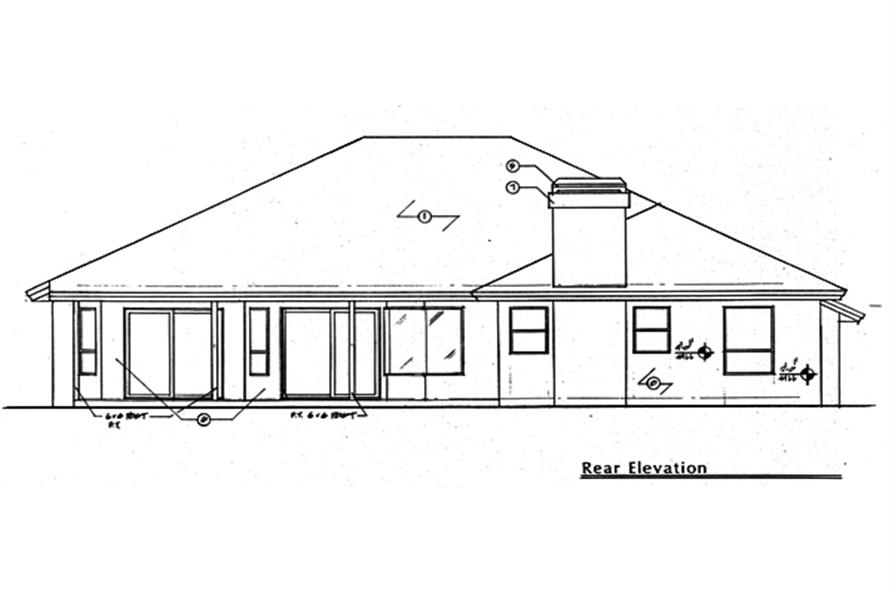 190-1021: Home Plan Rear Elevation