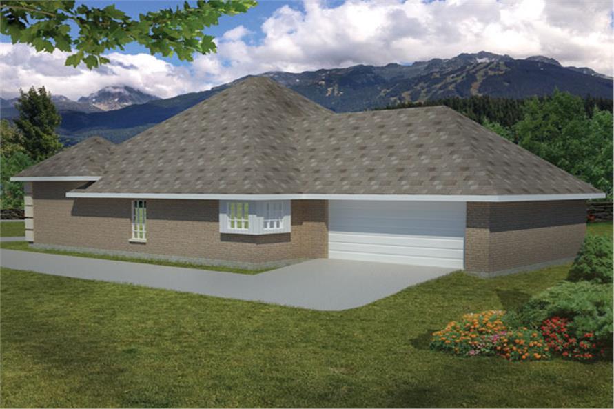 191-1006: Home Plan Rendering