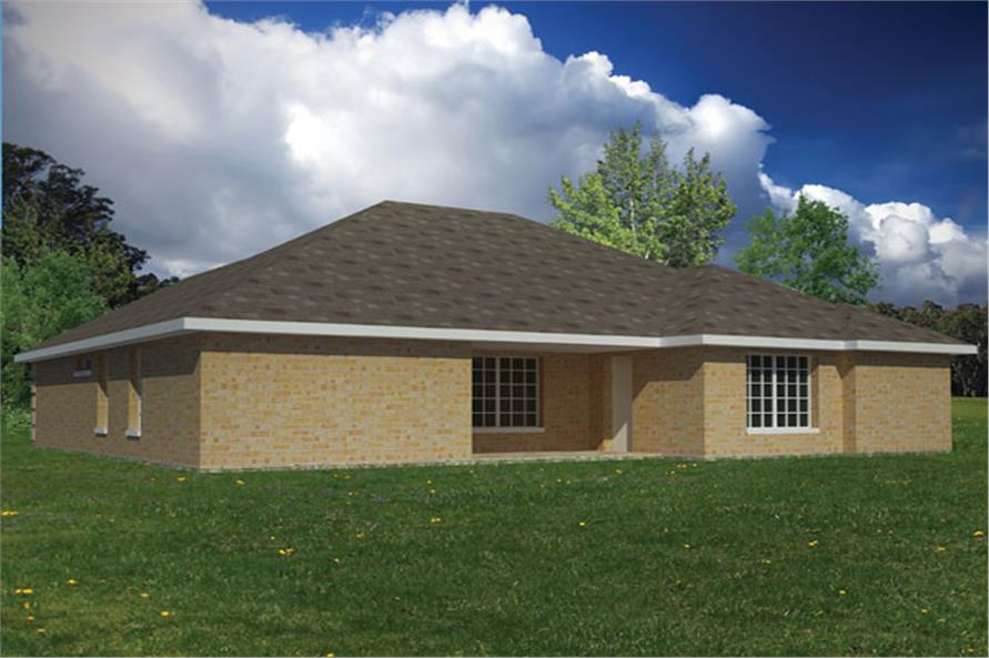 191-1009: Home Plan Rear Elevation